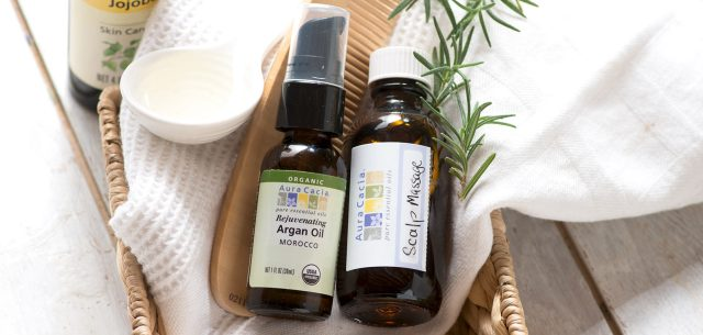 Massage the scalp using essential oils