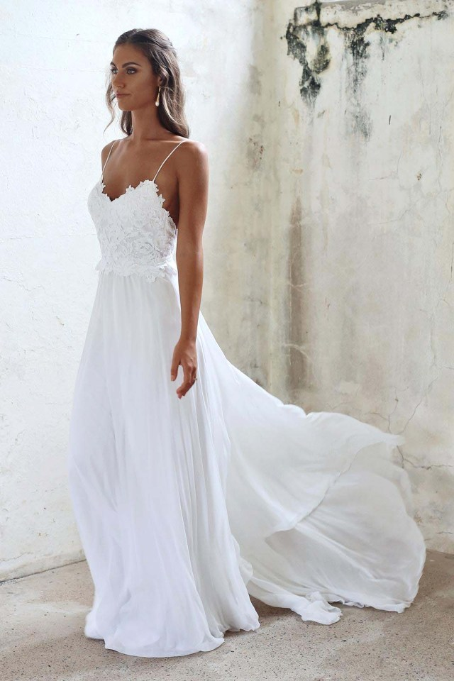 bridalwear with straps