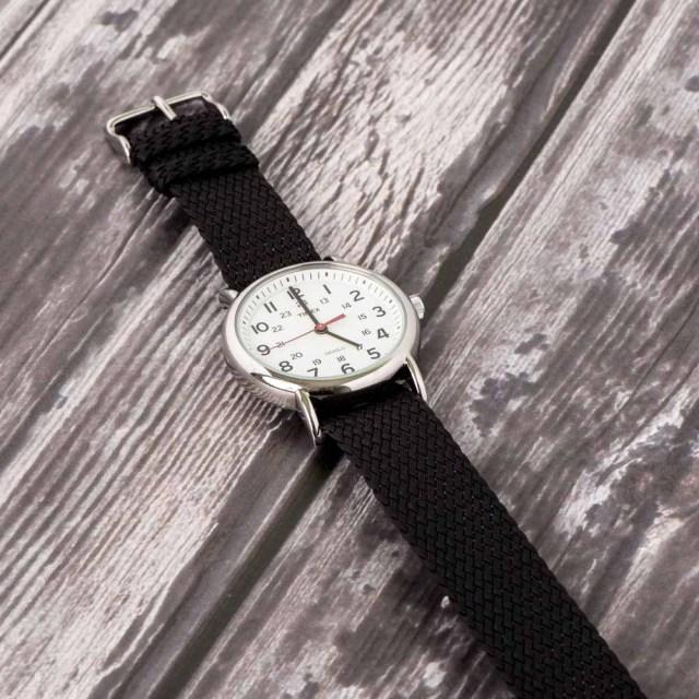 Black Perlon Strap Watch