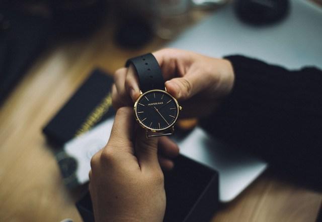 golden wrist watch for men