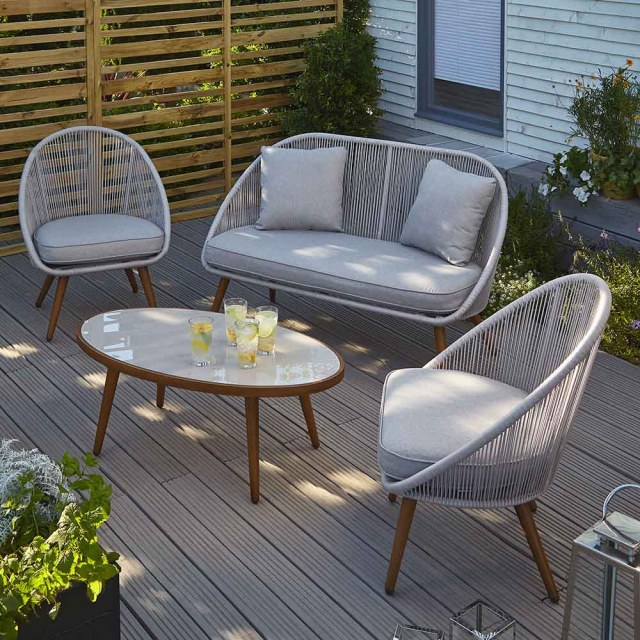 classy and colourful garden furniture