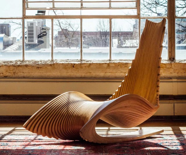 A sculptural chair