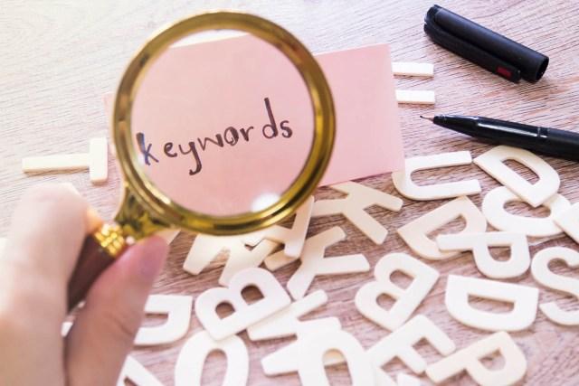 using keywords