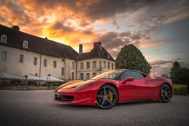 used classic and newer Ferraris