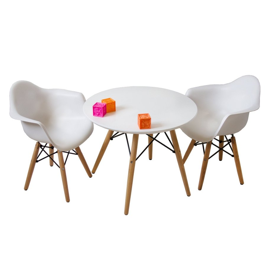 mid century eames style modern table with on Kids Round Table And Chairs id=96006