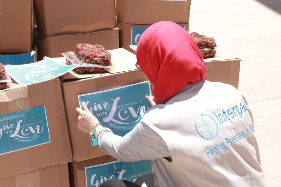 Food parcels in Lebanon's refugee camps