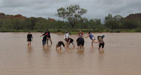 Alice Springs, Australia: InterPlay in muddy waters.