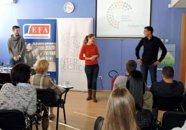 """Project """"European Student Parliament"""" presented during Parliamentary Week at Faculty of Economics, Finance and Administration in Belgrade"""