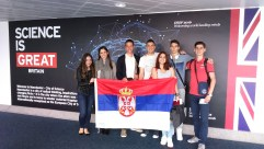 """Serbian team at the final debate of """"European student parliaments - Debate science!"""" from 25-27 of July 2016 in Manchester"""