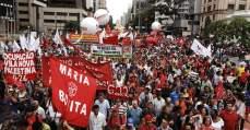 Multidão toma as ruas contra o impeachment, o ajuste fiscal e pela saída de Eduardo Cunha