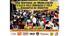 Centrais sindicais ocupam as ruas