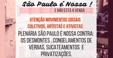 """Dia 27/07 participe da plenária """"São Paulo é Nossa!"""""""