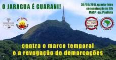 Povo Guarani ocupa Secretaria da Presidência, em São Paulo