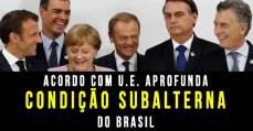 união européia, mercosul, jair bolsonaro, pessoas sorrindo, pessoas em pé, pessoa séria, 6 pessoas