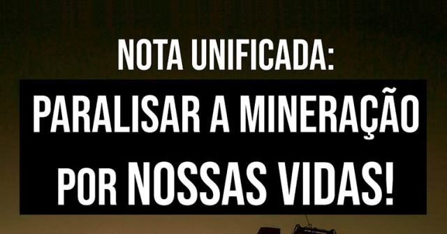 paralisar a mineração