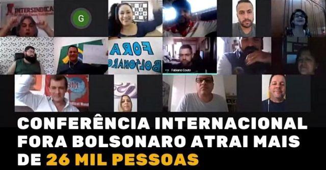 Conferência Internacional FORA BOLSONARO