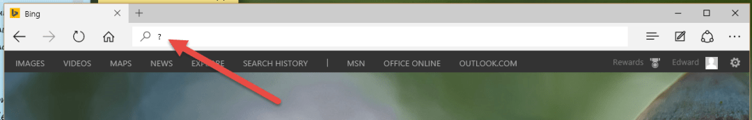 Open Search Query on Address Bar