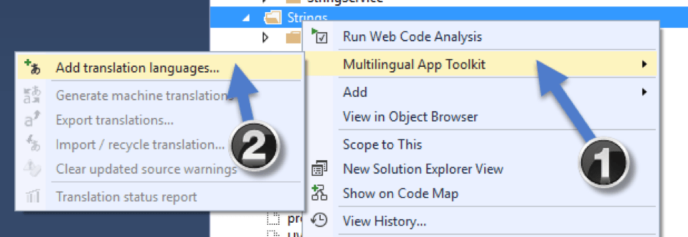 add translation languages for Multilingual App Toolkit