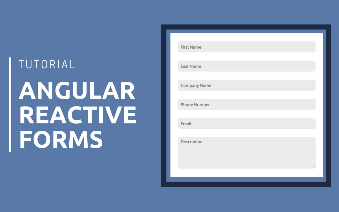 Angular Reactive Forms Tutorial