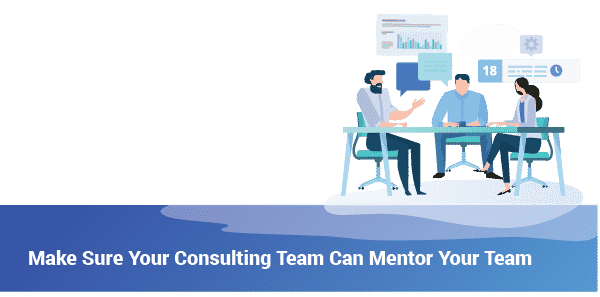Make Sure Your Consulting Team Can Mentor Your Team