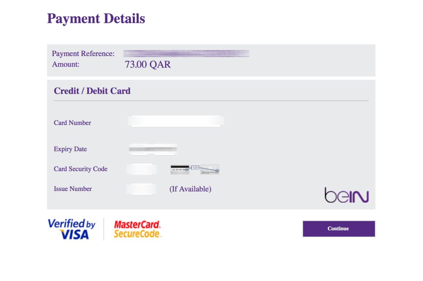 HD channels subscription unblocked beinsportsconnect Error 3222