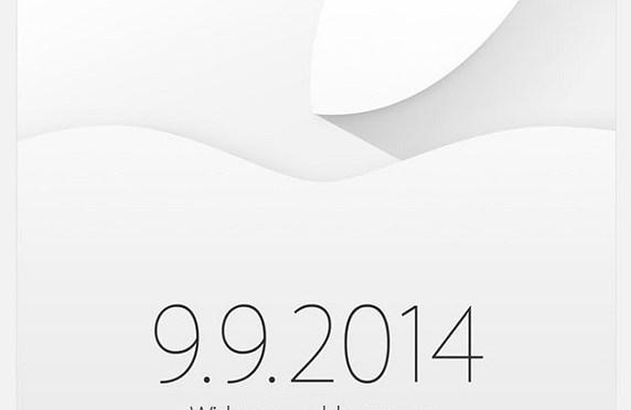 Ya es oficial, Apple presentará el iPhone 6 el próximo 9 de septiembre