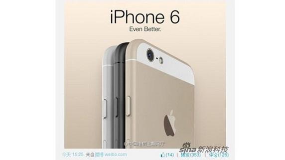China Telecom publica imagen oficial del iPhone 6 por error