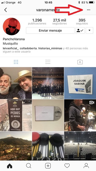 Bloquear usuario Instagram