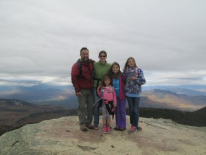 At the wind-swept summit