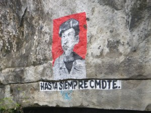 The rock walls had several political paintings.  This was an active area for the Sandinista rebellion and there are still strong loyalties.