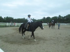 Nadia rode in her first big horse show last month.