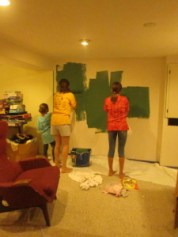 Just today we painted the basement.