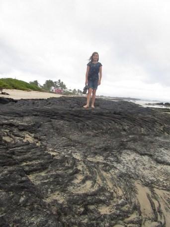 Lava rock that still looks like it's flowing