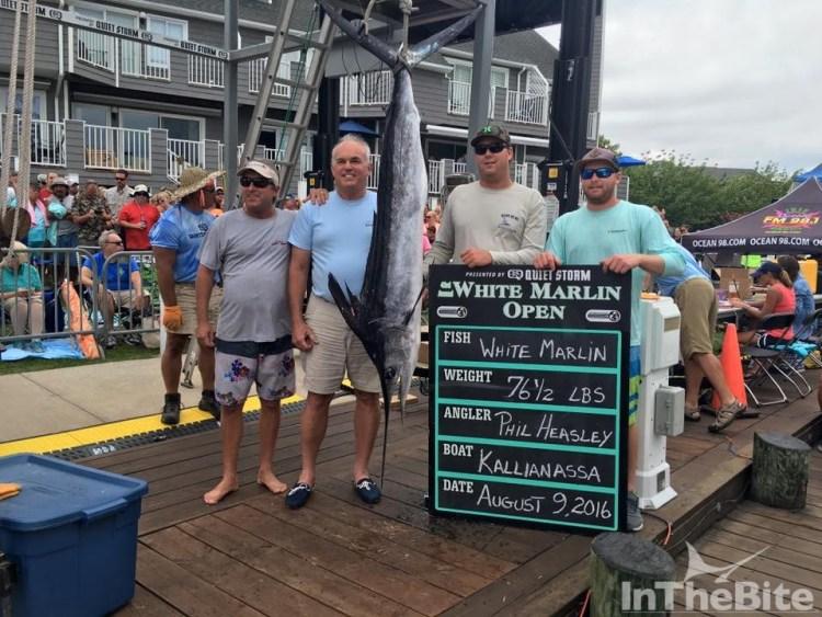 Team Kallianassa won all the White Marlin award money with this white marlin
