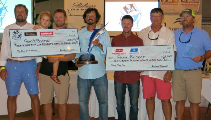 Point Runner Releases 20 Whites For Pirates Cove Win