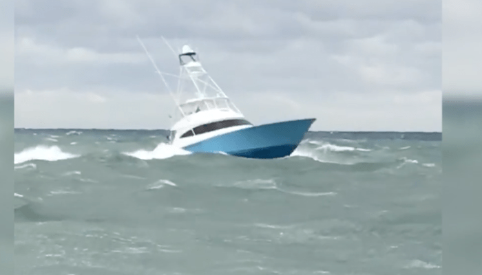 Check Out The 68′ Viking Running Lake Worth Inlet