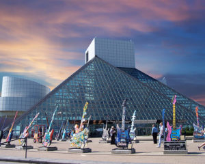 La Rock And Roll Hall Of Fame, situata a Cleveland Ohio