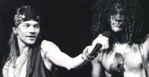 Axel Rose and Slash