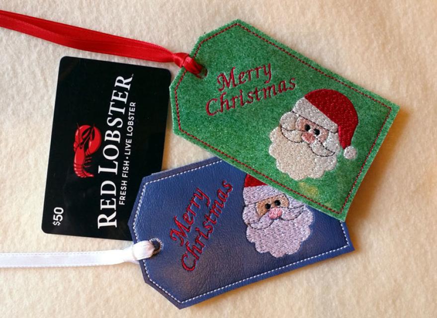 ITH Santa Gift Card Holder Christmas Gift Card Holder
