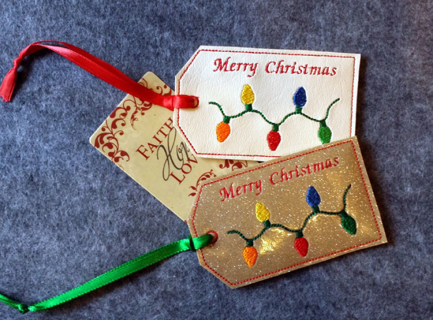 ITH Christmas Lights Gift Card Holder Christmas Gift