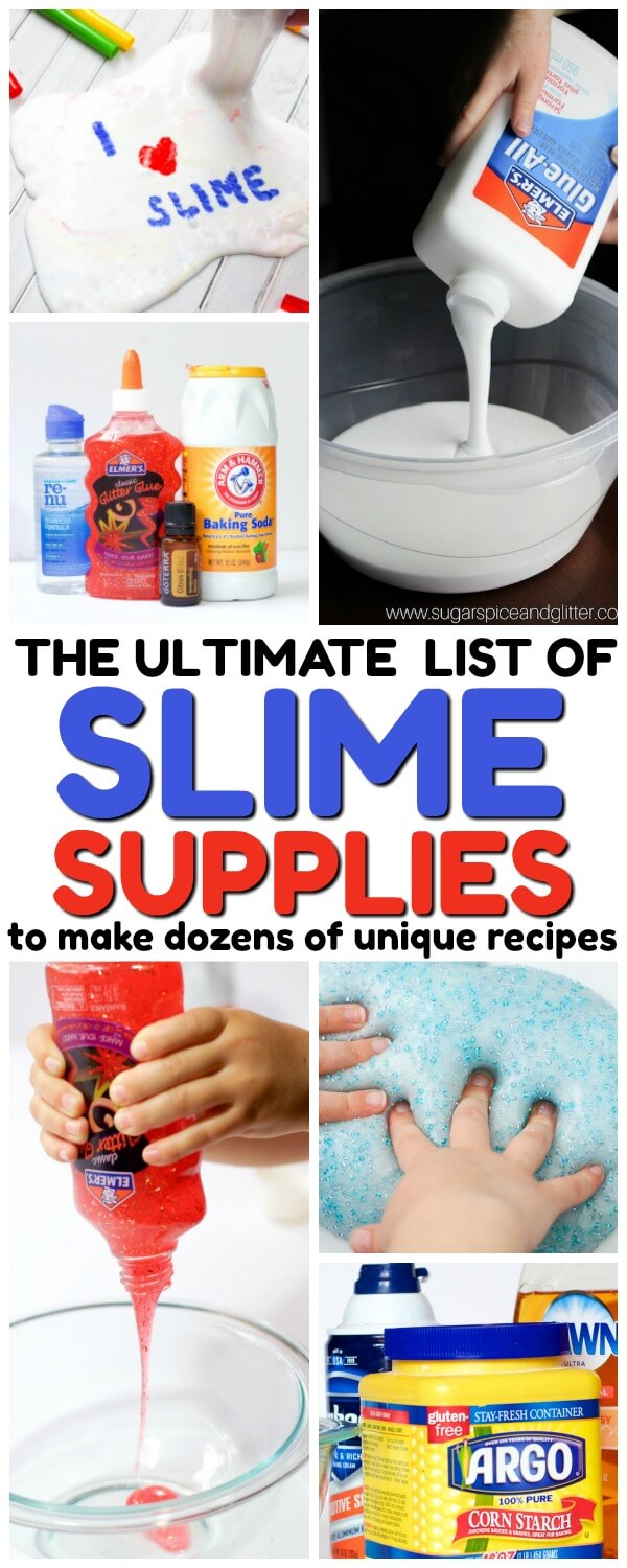 The Ultimate List of Slime Supplies (to make hundreds of recipes!)