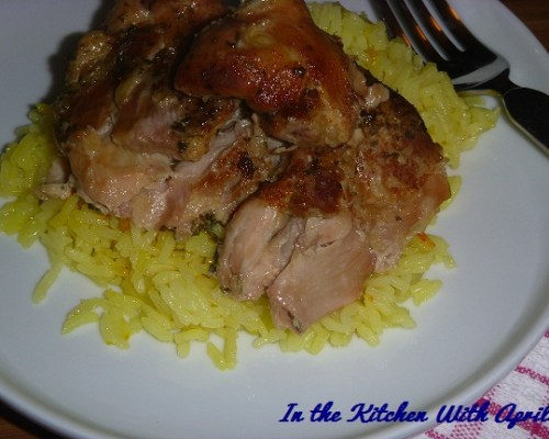 Crock Pot Chicken With Saffron Rice