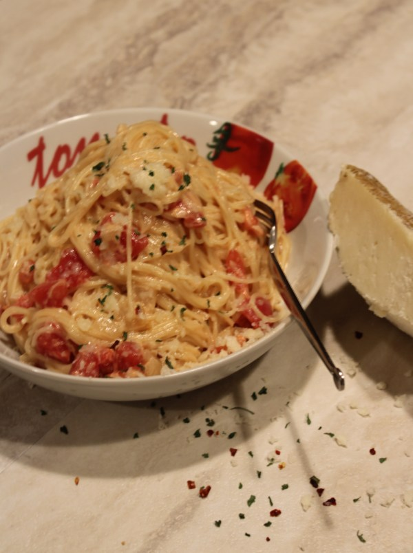 Creamy Manchego Rose Sauce with Angel Hair Pasta