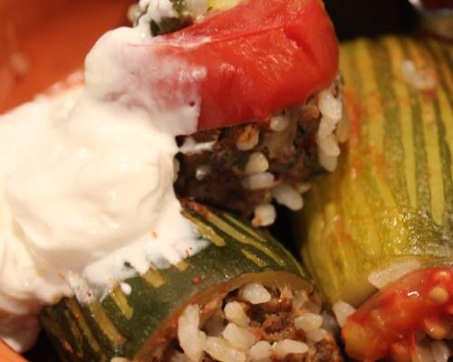 Kabak Dolmasi (Stuffed Zucchini)