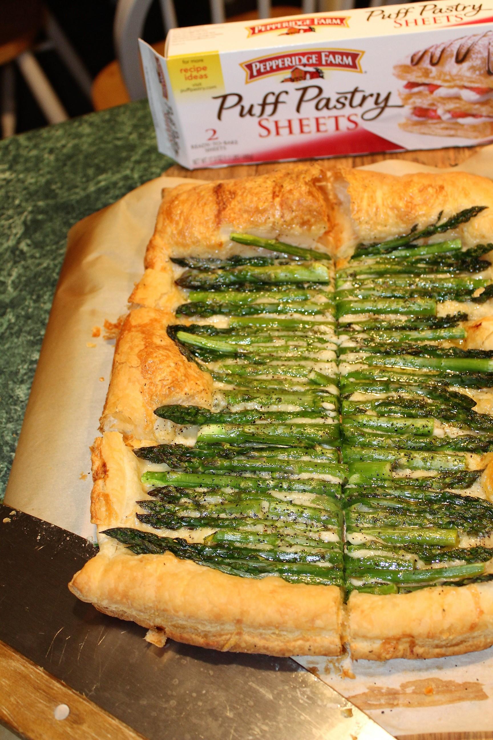 Gruyere Asparagus Tart