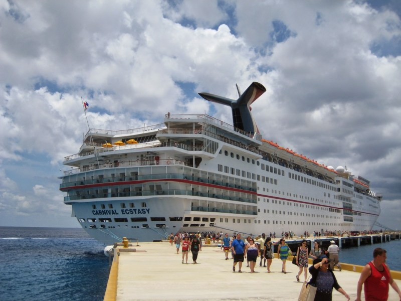 Resort vs  Cruise  What is the Best Vacation    In The Loop Travel Carnival Ecstasy cruise ship