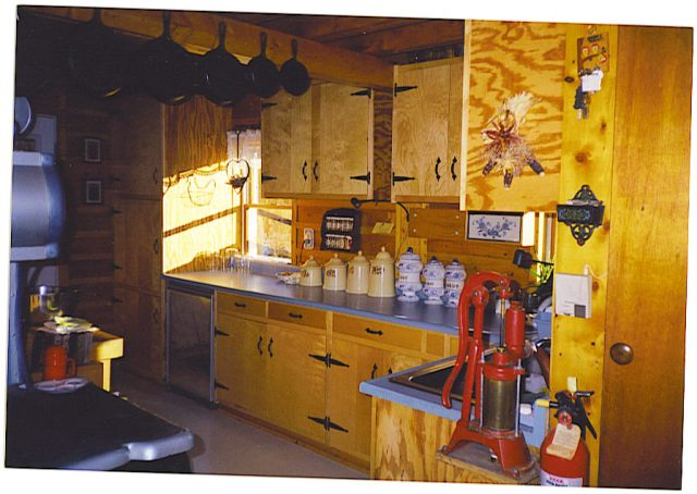 Our Maine Homestead Kitchen w/ Pitcher Pump