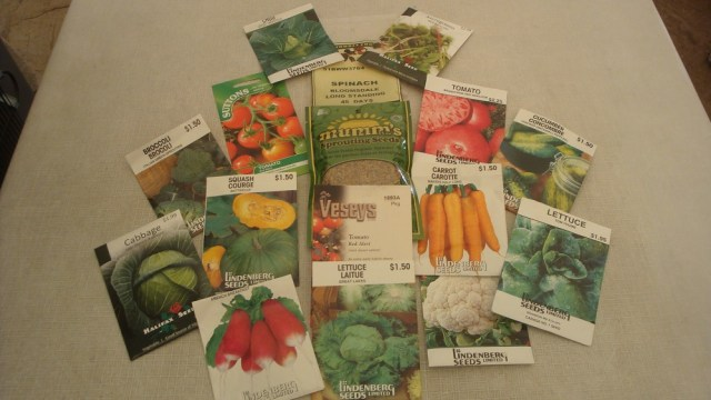 Various Seed Packets