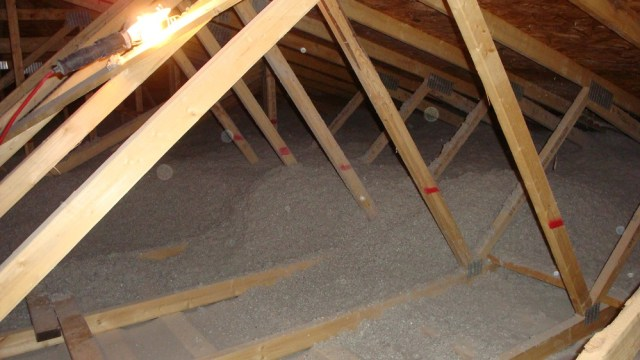 Cellulose Insulation in Attic