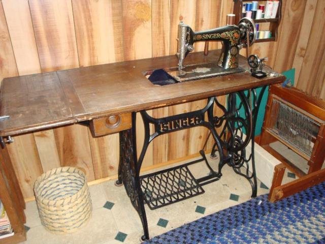 Our Singer Treadle Sewing Machine and 4 Harness Table Loom